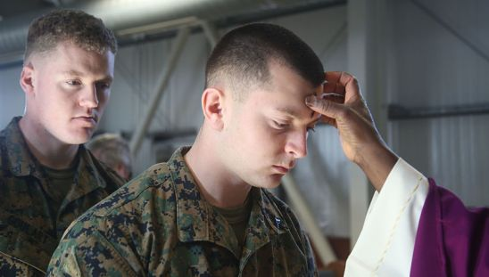 Deployed_US_Marines,_soldiers_observe_Ash_Wednesday_150218-M-OM669-813